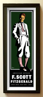 small graphic portrait of f scott fitzgerald