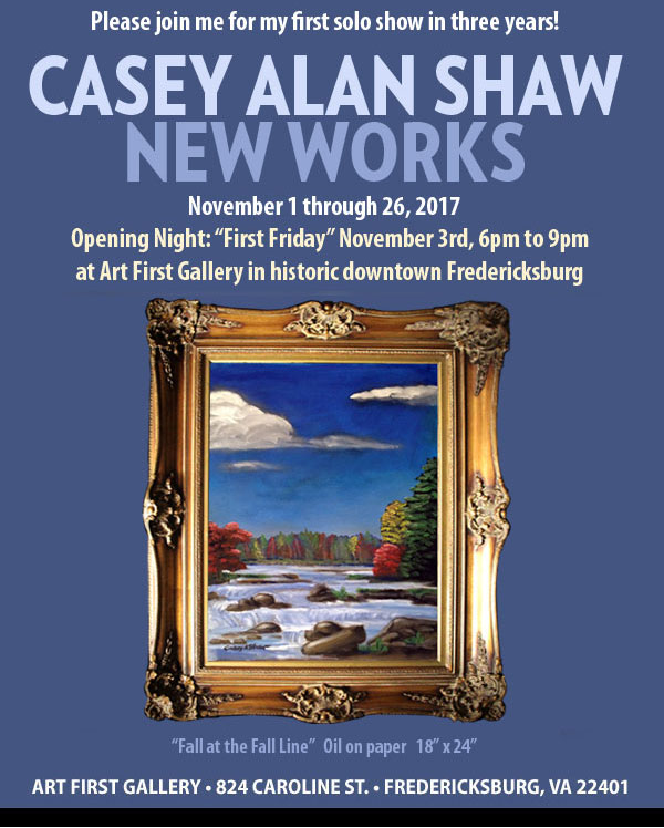 Latest paintings and prints by Casey Alan Shaw, November 2017